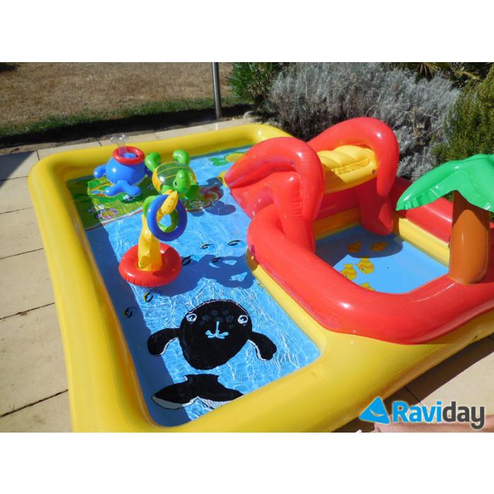 Aire de jeu gonflable intex ocean for Aire de jeu gonflable piscine