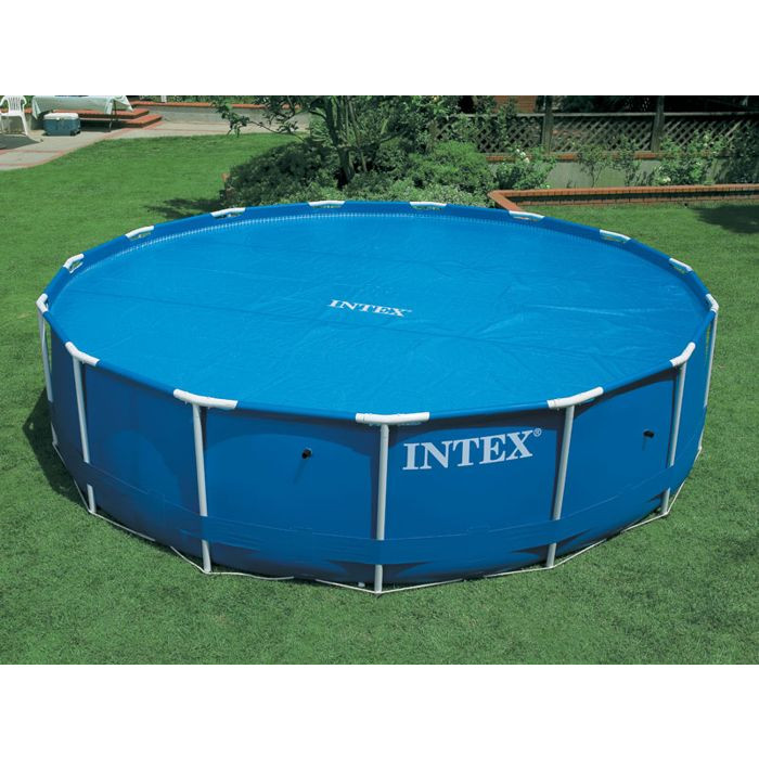 Bache pour piscine ronde hors sol intex frame for Bache piscine intex