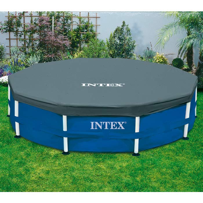 B che pour piscine tubulaire ronde m intex for Bache piscine intex