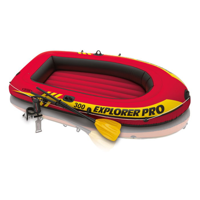 Bateau gonflable intex explorer 300 pro set raviday piscine - Bateau gonflable 5 places ...