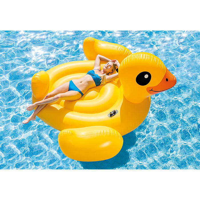 Canard gonflable g ant pour piscine intex for Balayeuse pour piscine gonflable