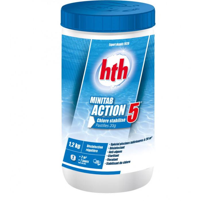 hth minitab action 5 chlore stabilis multifonction. Black Bedroom Furniture Sets. Home Design Ideas