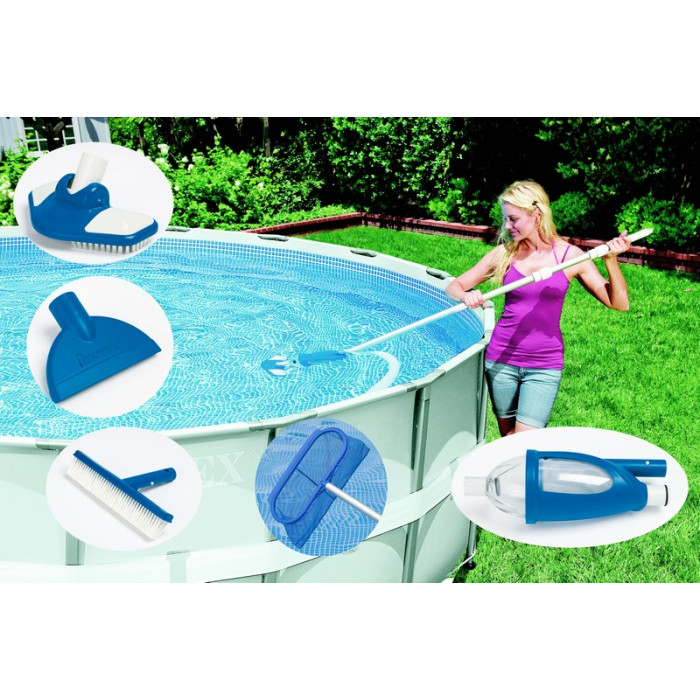 Piscine tubulaire intex ultra silver 9 75 x 4 88 x 1 32 raviday - Nettoyage piscine hors sol intex ...