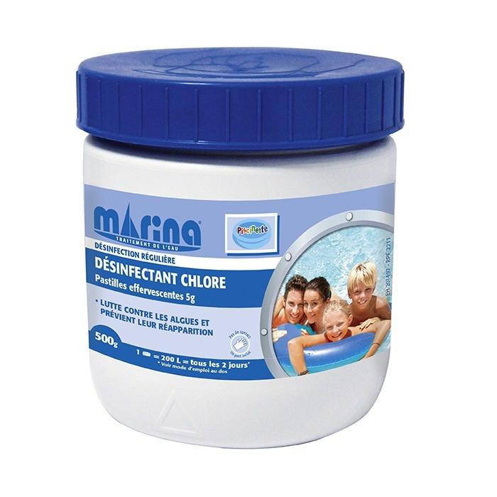 Pastilles effervescentes 5g de chlore marina pour - Pastille chlore piscine gonflable ...