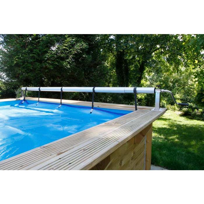 enrouleur de b che bulles pour piscine en bois ubbink. Black Bedroom Furniture Sets. Home Design Ideas