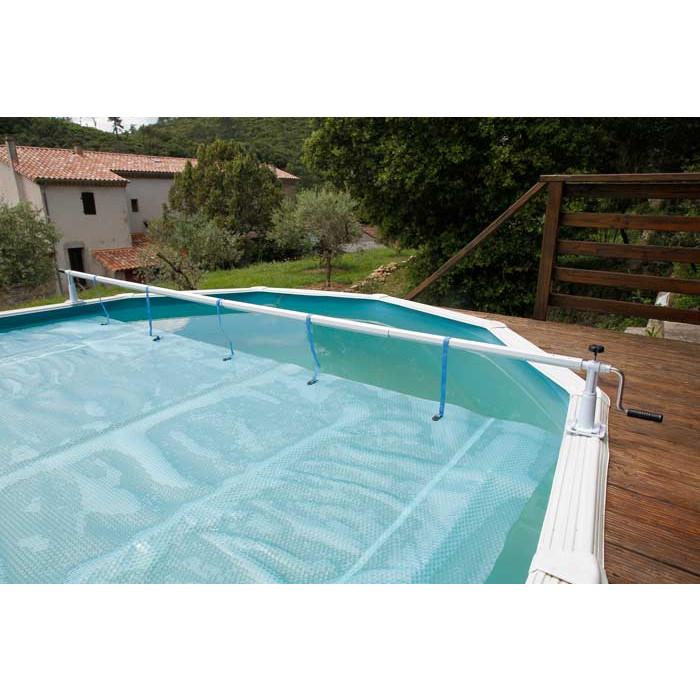 enrouleur de b che bulles pour piscine en bois ubbink xtra. Black Bedroom Furniture Sets. Home Design Ideas