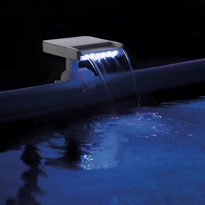 fontaine led multicolore pour piscine intex mod le cascade. Black Bedroom Furniture Sets. Home Design Ideas