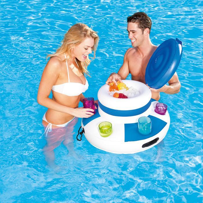 Glaci re bar flottant bestway matelas de piscine jeux de piscine for Accessoire pour piscine