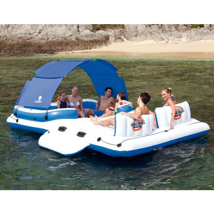 Ile gonflable bestway tropical breeze matelas de piscine jeux de piscine - Ile gonflable piscine ...