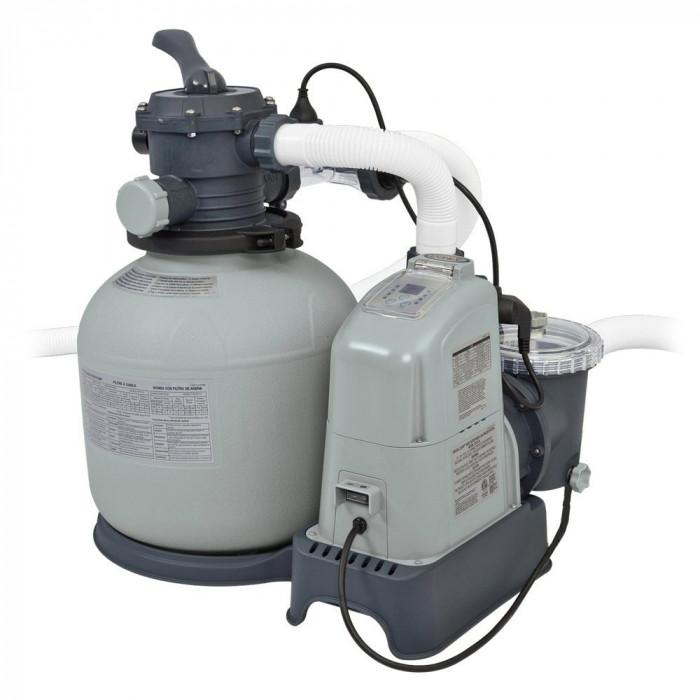 Combiné filtre à sable 6 m³/h et écostérilisateur Intex + OEC