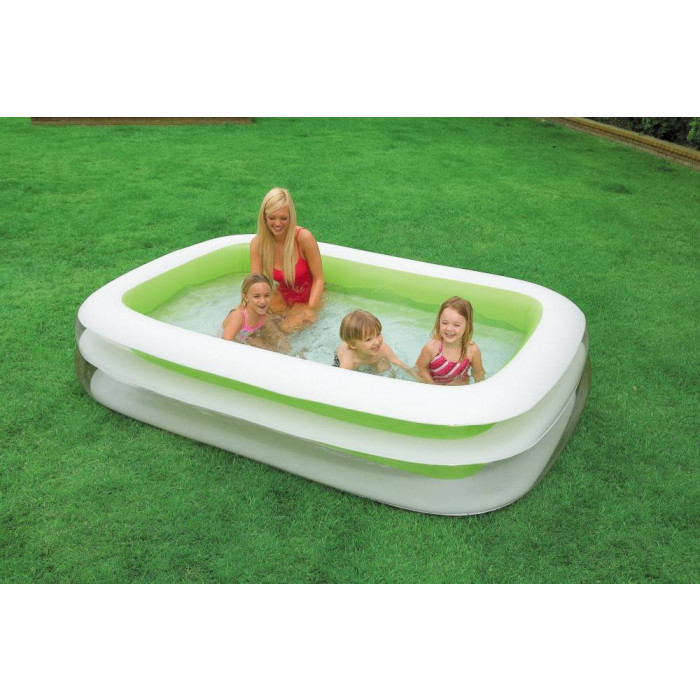 Piscine gonflable rectangulaire family intex for Piscine intex gonflable