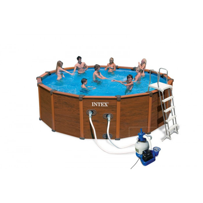 Piscine intex sequoia spirit 4 78m aspect bois achat sur raviday piscine - Piscine intex aspect bois ...
