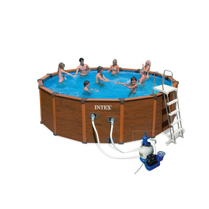 Liner tubulaire pour piscine s quo a 5 08 x 1 24 m intex for Intex piscine liner