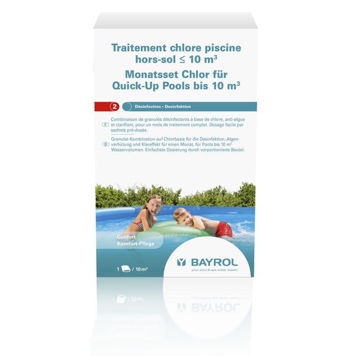 Kit de traitement au chlore bayrol pour piscines for Traitement au sel pour piscine