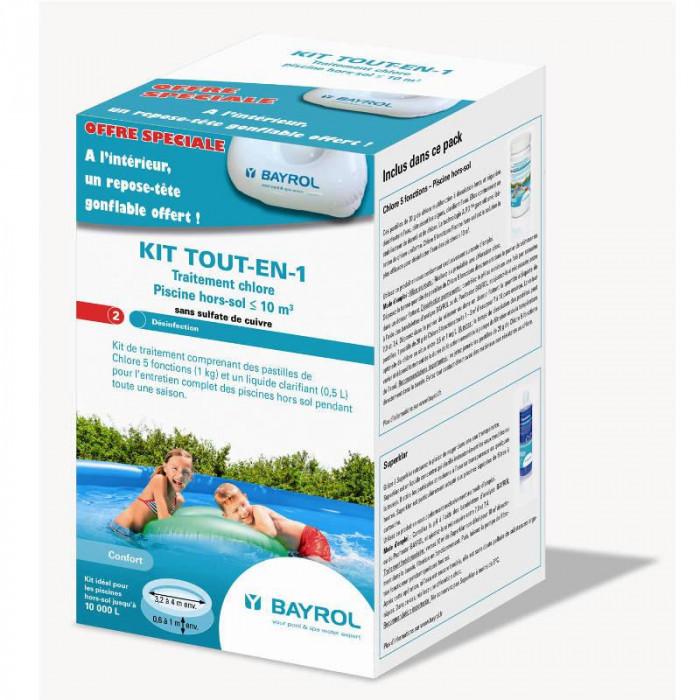 Kit de traitement au chlore tout en 1 bayrol pour piscines - Pastille chlore piscine gonflable ...
