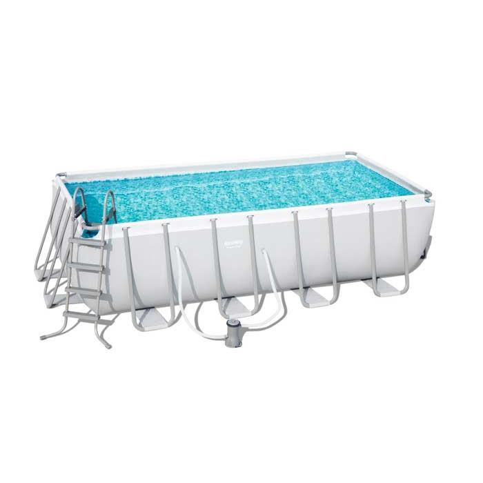 piscine tubulaire rectangulaire bestway power steel 4 88 x. Black Bedroom Furniture Sets. Home Design Ideas