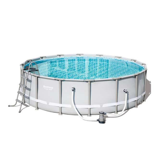 piscine tubulaire ronde bestway power steel 4 88 x 1 22. Black Bedroom Furniture Sets. Home Design Ideas