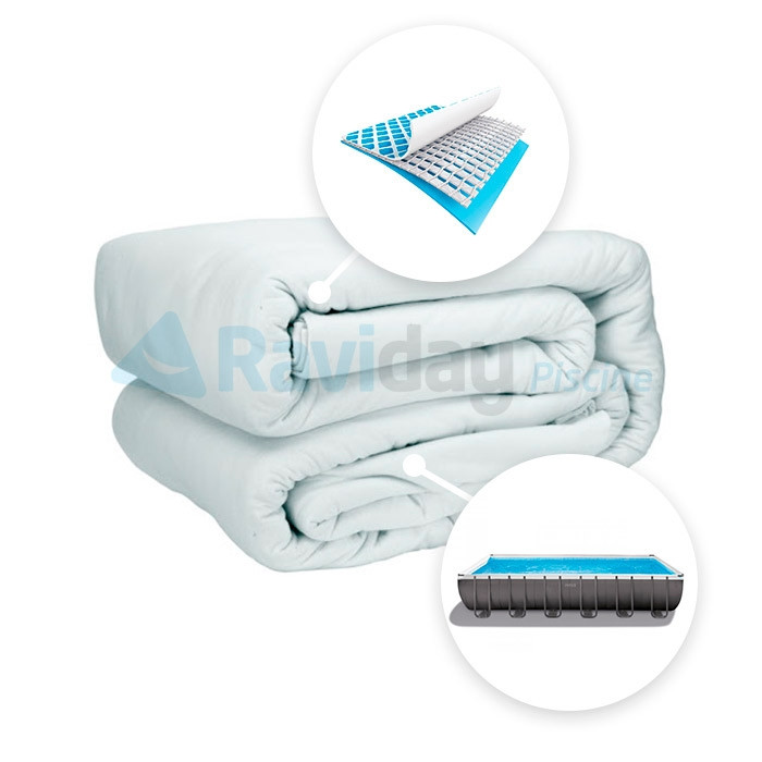 liner pour tubulaire rectangulaire silver x x m. Black Bedroom Furniture Sets. Home Design Ideas