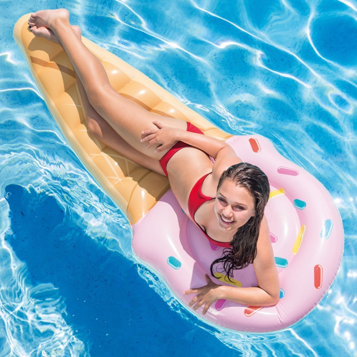Matelas gonflable de piscine intex cornet de glace for Matelas piscine intex