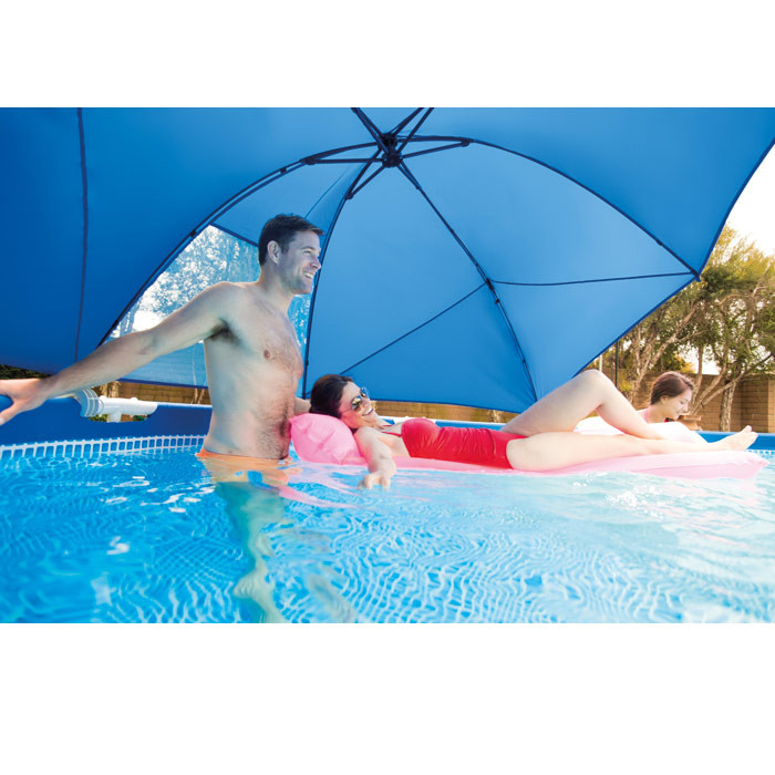 ombrelle parasol pour piscine tubulaire de 3 66 5 49 m intex. Black Bedroom Furniture Sets. Home Design Ideas
