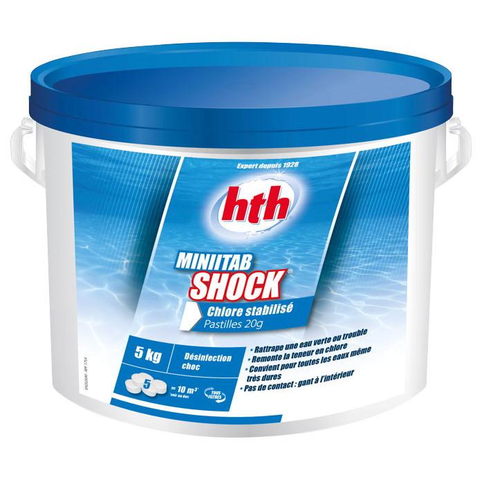 Hth minitab shock 5kg chlore stabilis pastilles 20g - Pastille chlore piscine gonflable ...