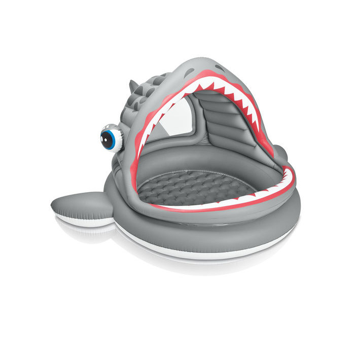 piscinette gonflable avec pare soleil requin intex 2 ans. Black Bedroom Furniture Sets. Home Design Ideas