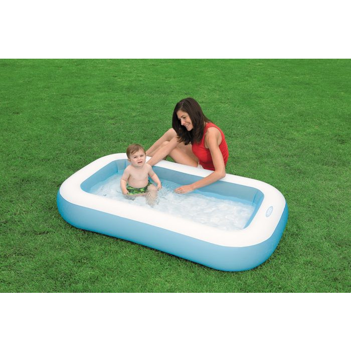 Pataugeoire gonflable rectangulaire pour b b intex baby for Entretien piscine intex