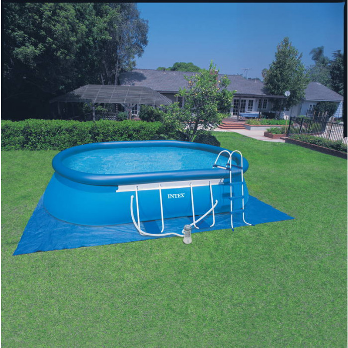 Piscine autoport e intex ellipse 5 49 x 3 05 x 1 07 m for Piscines autoportees