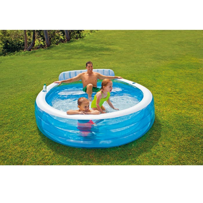 Piscine gonflable avec banc intex for Balayeuse pour piscine gonflable
