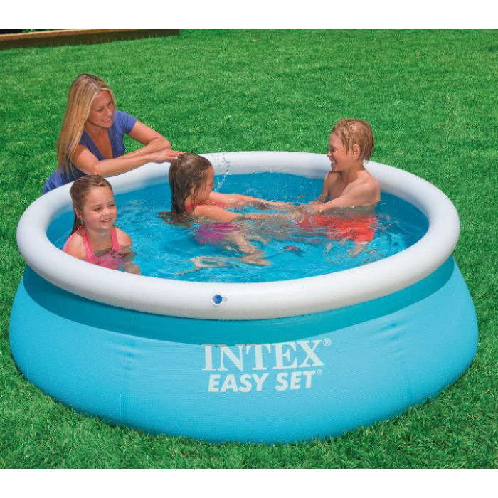 Piscine gonflable intex easy set x pour enfant for Protection enfant piscine
