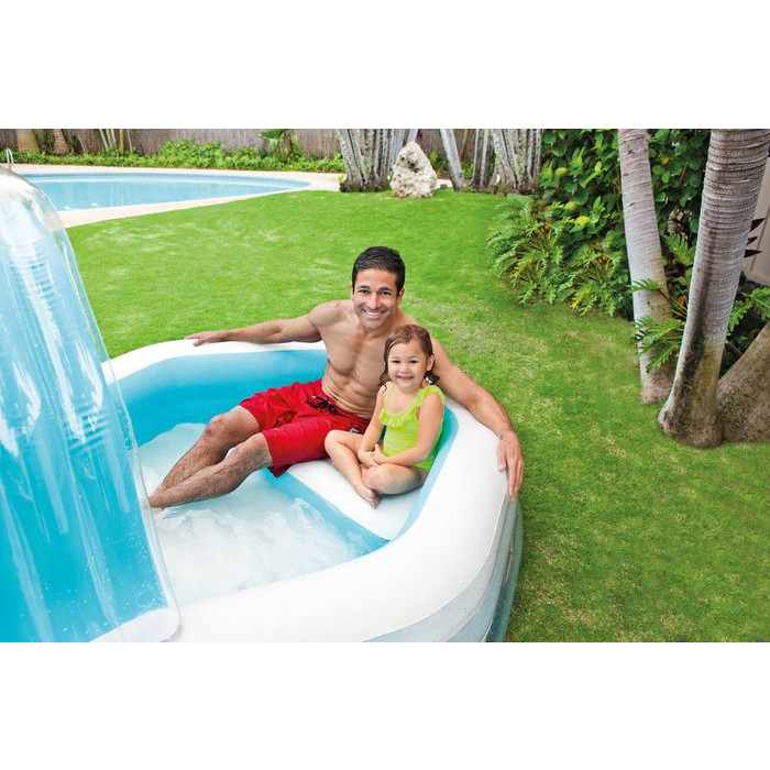 Piscine gonflable octogonale for Piscine carre gonflable
