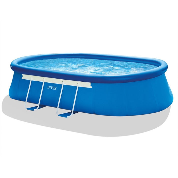 Piscine autoport e intex ellipse 5 49 x 3 05 x 1 07 m for Piscine intex 5 m