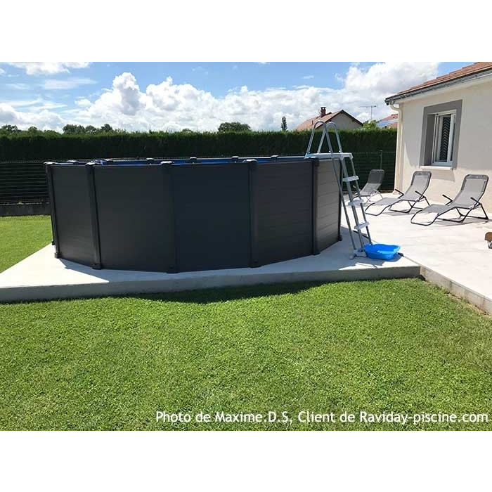 Piscine Intex Graphite 478 X 124 Piscine Tubulaire Ronde