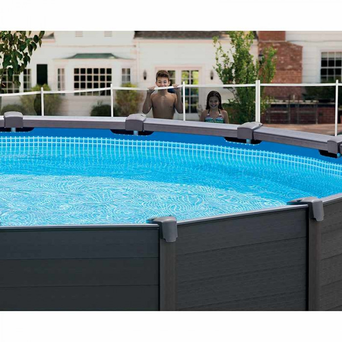 piscine intex graphite 4 78 x 1 24 piscine tubulaire ronde. Black Bedroom Furniture Sets. Home Design Ideas
