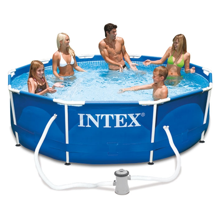 piscine intex metal frame x m epurateur 1 25m3