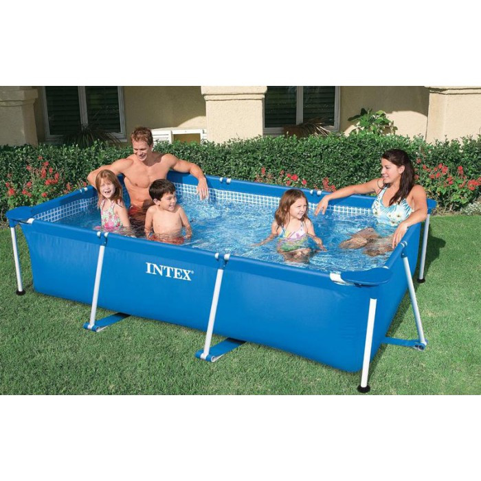 Piscine tubulaire intex metal frame junior 3 x 2 x m for Piscine intex 5 m