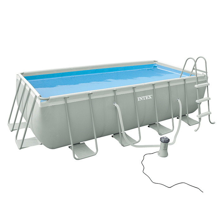 Piscine intex ultra frame 400x200x100 piscine tubulaire for Piscine hors sol ultra silver 4 57 x 2 74