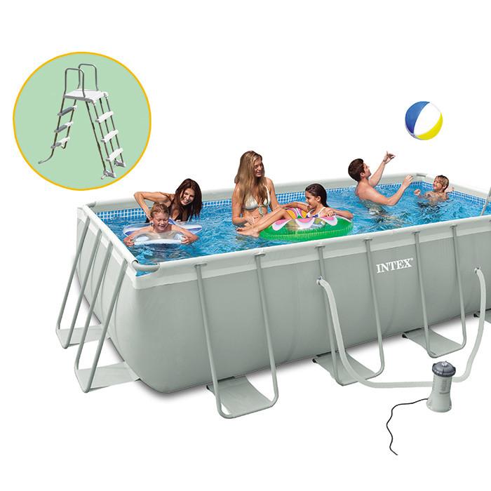 Piscine intex ultra frame 400x200x100 piscine tubulaire 28350fr chez raviday piscine - Dosage chlore piscine intex ...