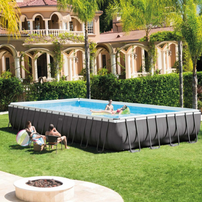 Piscine tubulaire intex ultra silver 9 75 x 4 88 x 1 32 for Piscine intex 5 m