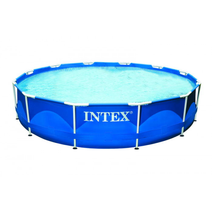 Piscine tubulaire intex metal frame x avec for Piscine intex 5 m