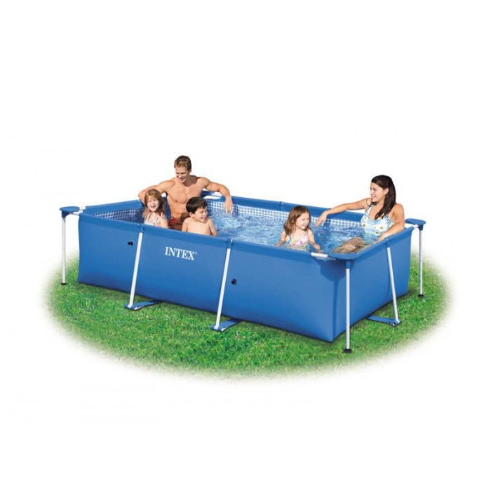 Piscine tubulaire intex metal frame x x m for Liner piscine 3 50 x1 20
