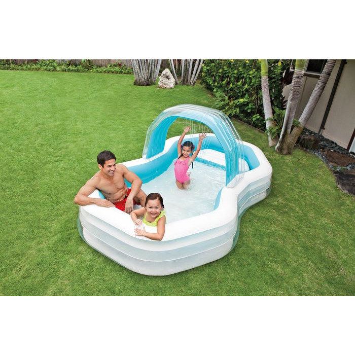 Piscine octogonale avec ombrelle intex achat sur raviday for Achat piscine intex
