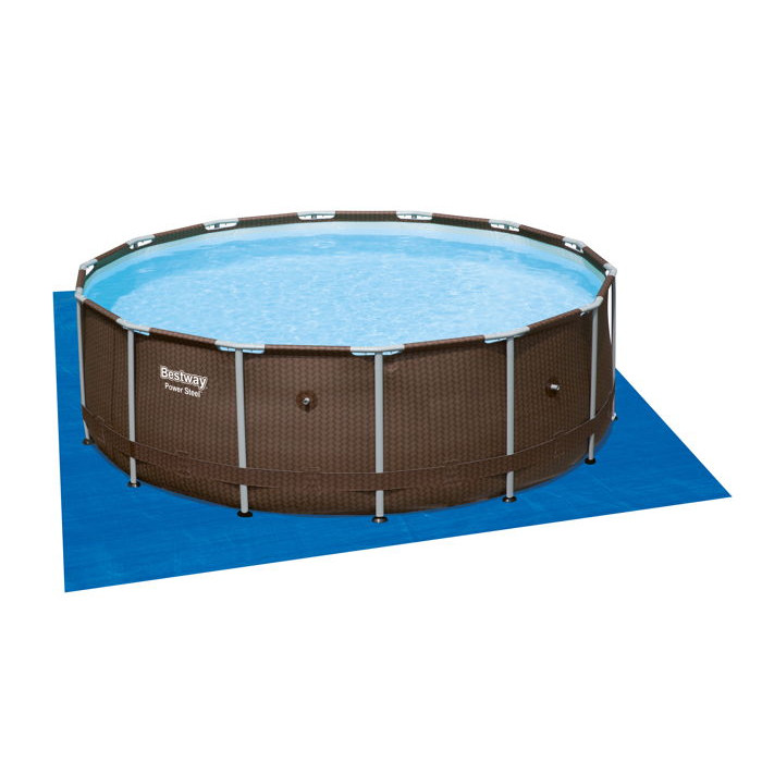 Piscine bestway steel pro frame bois 4 27 x 1 07 for Piscine tubulaire bois