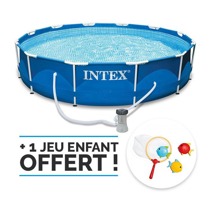 Intex METAL FRAME piscine 366x76 cm Natation Piscine Pompe 28212