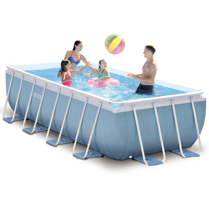 Piscine tubulaire rectangulaire intex prism frame 4m x 2m x 1m for Piscine gonflable 2m