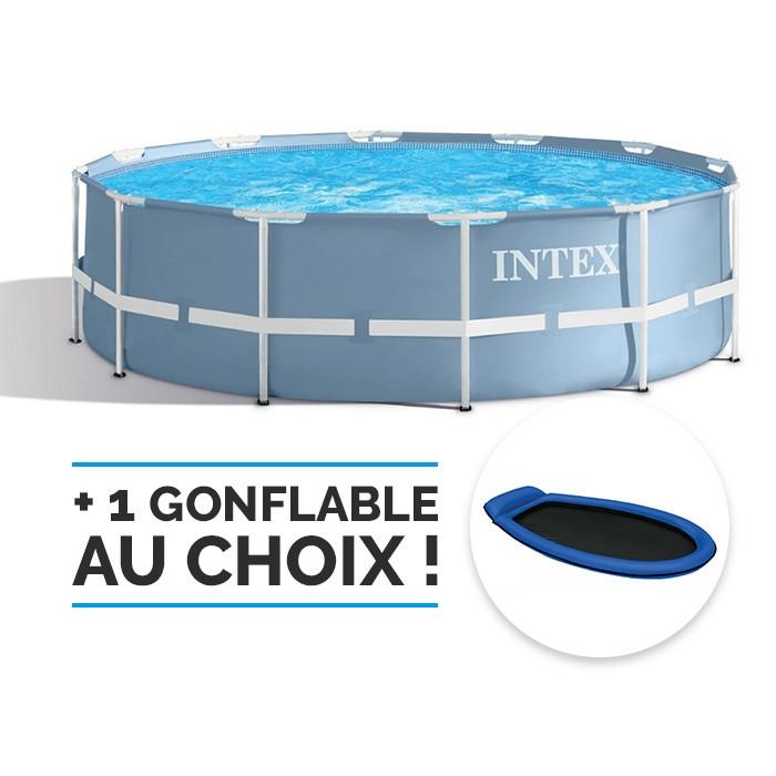 piscine tubulaire ronde intex prism frame 3 66 x 0 99 m. Black Bedroom Furniture Sets. Home Design Ideas