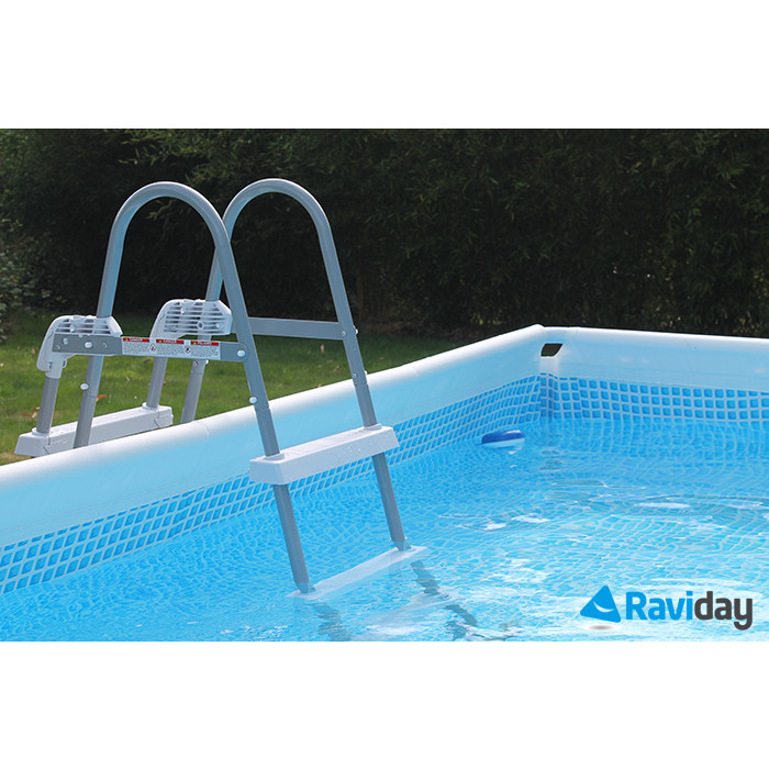 Piscine tubulaire rectangulaire intex prism frame 4m x 2m x 1m for Trouver fuite piscine intex tubulaire