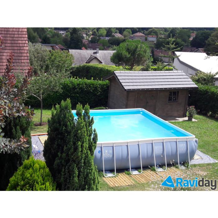 Bache piscine intex 488 mai de la piscine intex ultra for Piscine intex carre