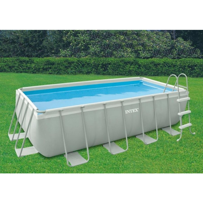 Piscine tubulaire intex metal frame rectangulaire 17 best for Piscine intex