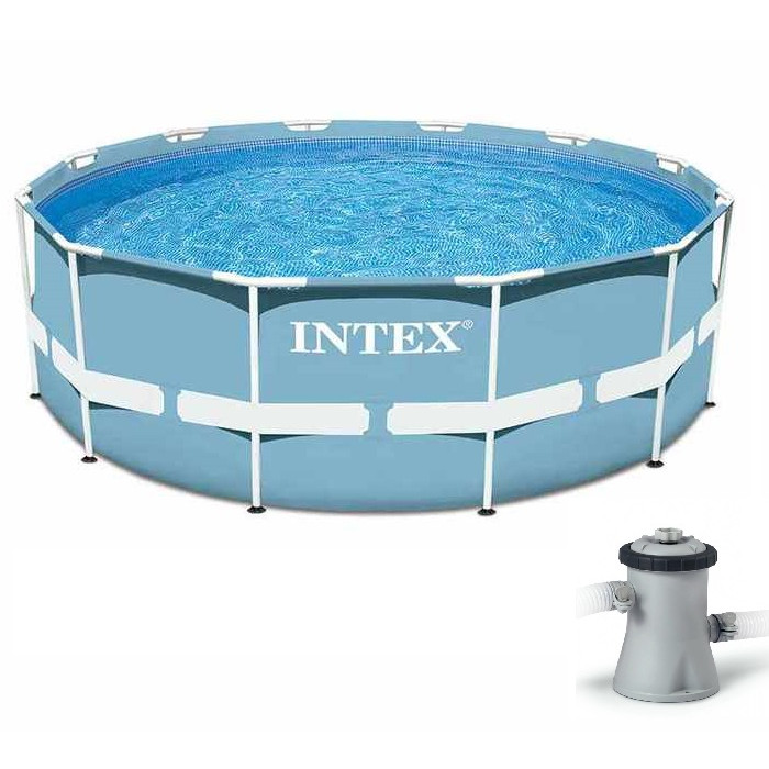Piscine intex ronde intex kit piscine ronde avec ch ssis for Piscine ronde intex